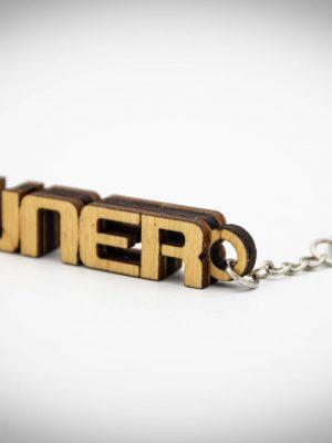 """TimberWorks keyring """"Tuner"""""""