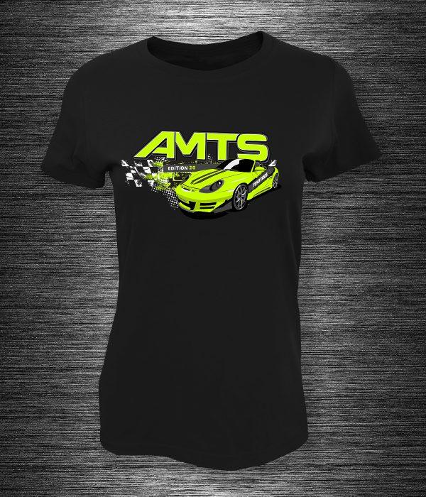 AMTS Porsche női póló zöld